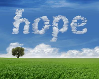 Hope in clouds