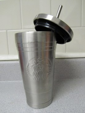 Stainless steel iced coffee cup