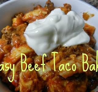 Easy Beef Taco Bake