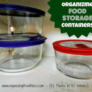 52 Place In 52 Weeks: Food Storage Containers