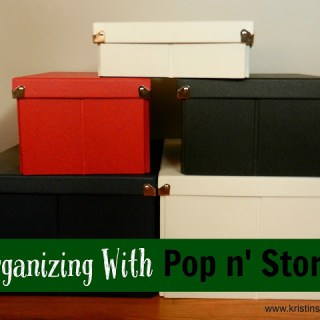 Organizing With Pop n' Store + Giveaway
