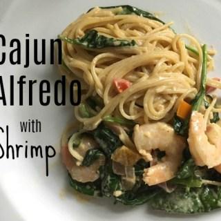 Cajun Alfredo with Shrimp