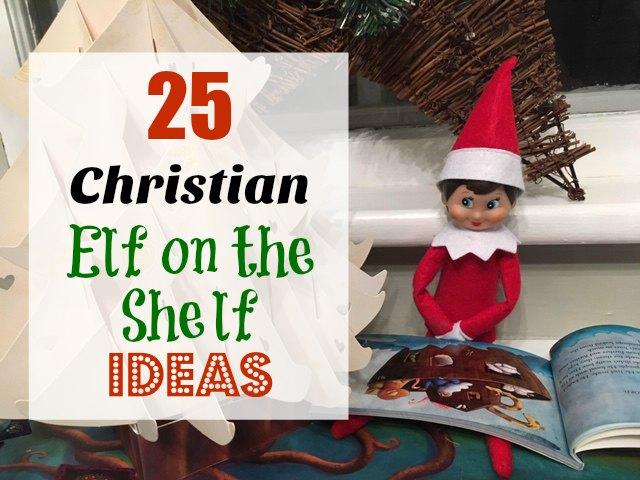 christian elf on the shelf
