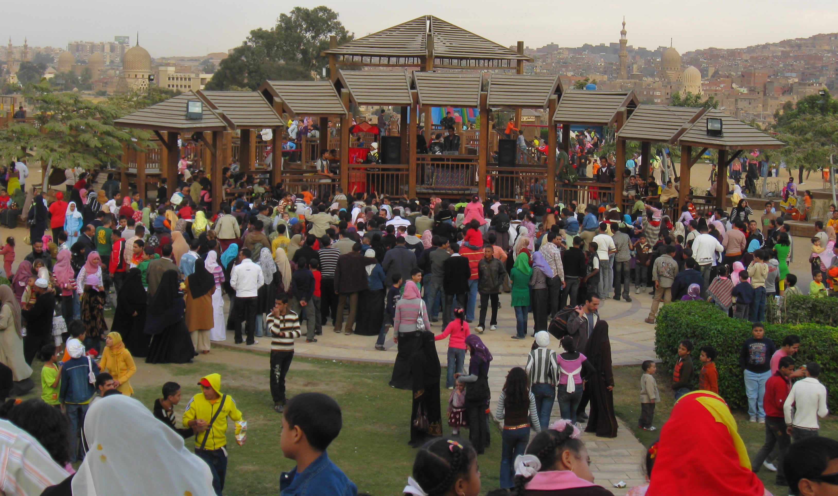 The Playground at Al-Ahzar Park during the Eid.