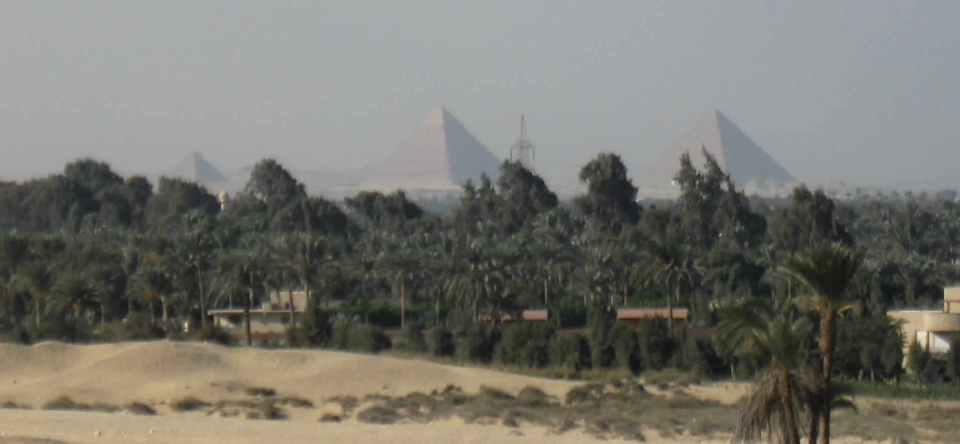 Looking at Giza from Abusir