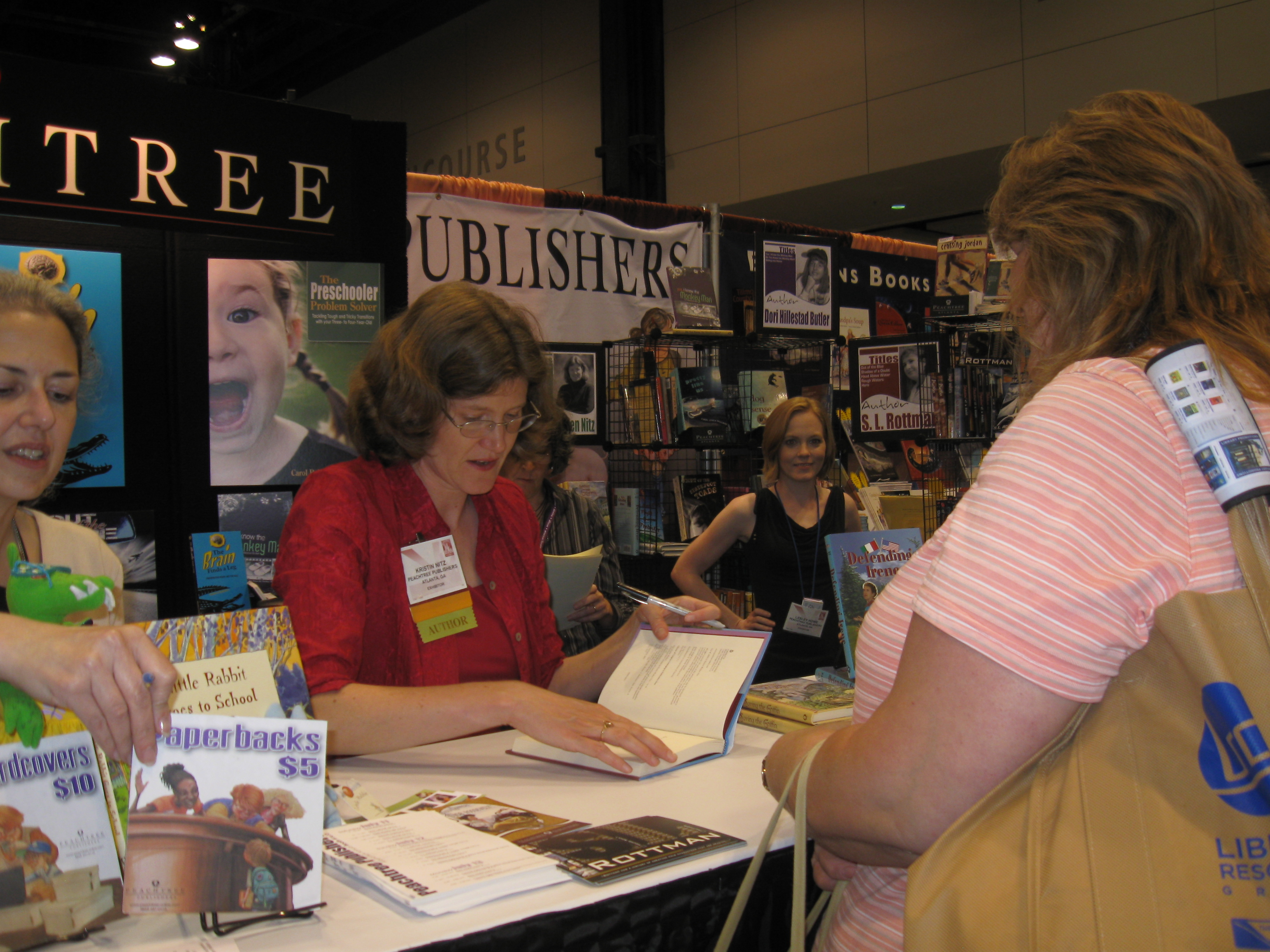 Sigining at the Peachtree Booth (ALA 2009)