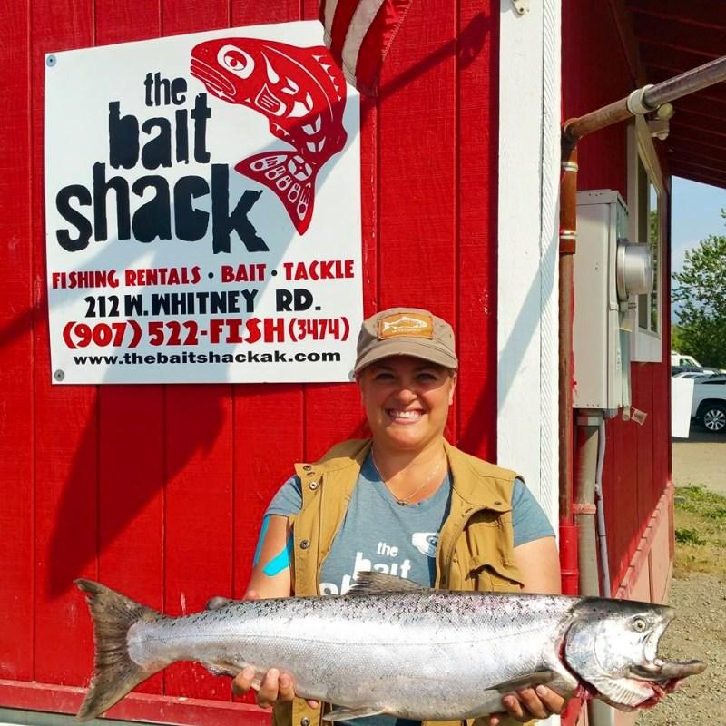 Kristi Trimmer fishing