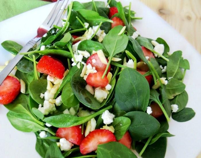 Organic Strawberry Spinach Salad