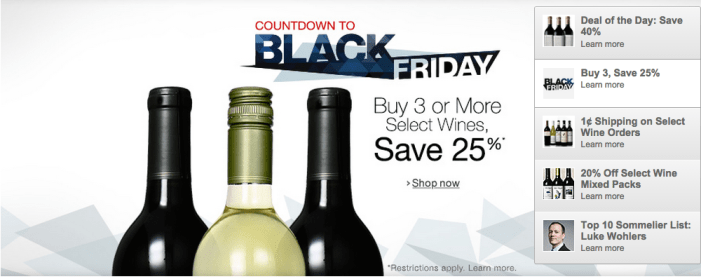 Amazon Black Friday Wine Deals