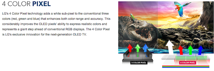 Best Buy OLED TV 4 Color Pixel