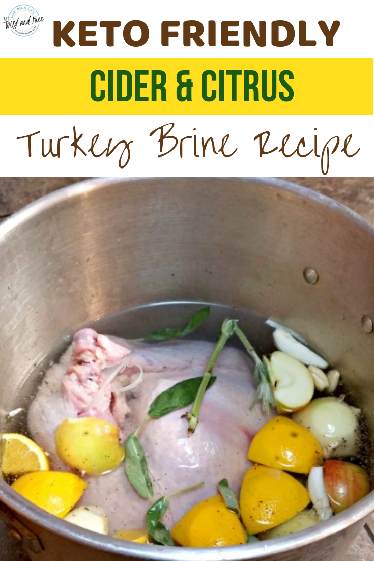 Keto Friendly Cider & Citrus Turkey Brine Recipe #turkeybrine #ketobrine #citrusbrine