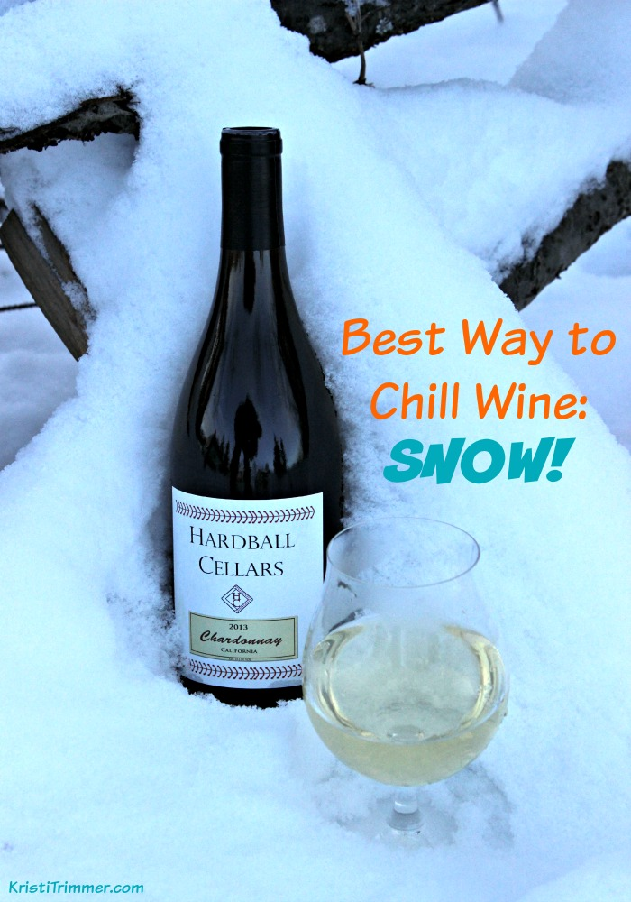 Best Way to Chill Wine - Snow