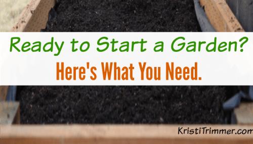 tips to starting a garden