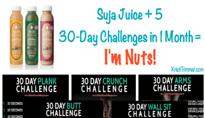 Suja Juice + 5  30-Day Challenges in 1 Month =  I'm Nuts!