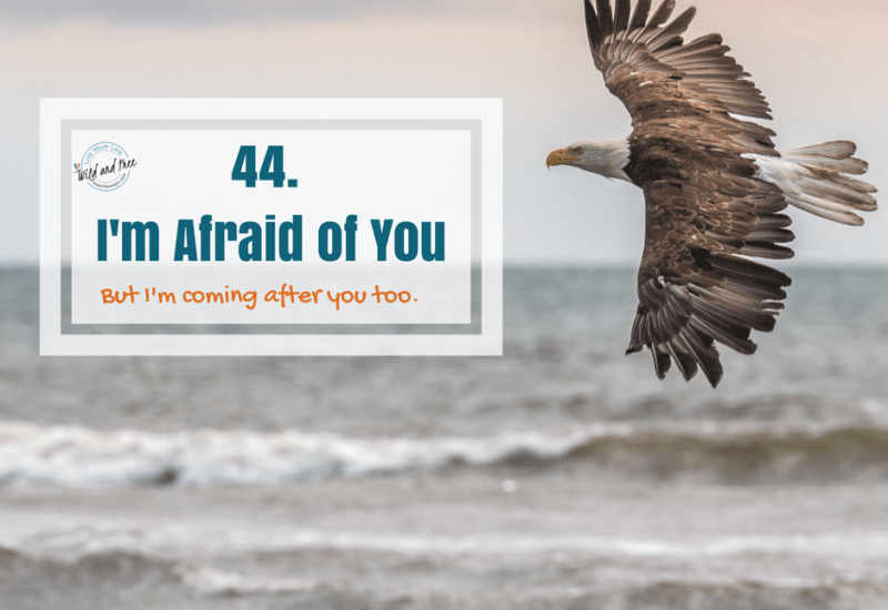44. I'm afraid of you #44 #birthdays #fear #reality