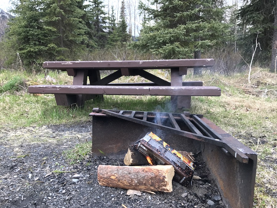 Campfire Hack with Fire Log - build a hotter fire quickly #camping #campfire #campinghack