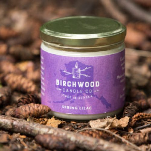 Spring Lilac Birchwood Candles