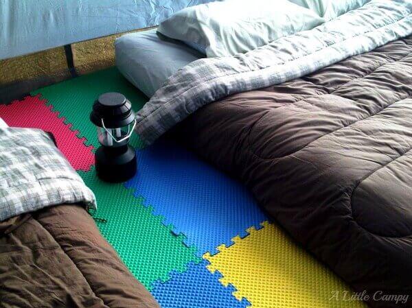 Foam Floor for Tent Camping #camping #campinghacks #tentcamping