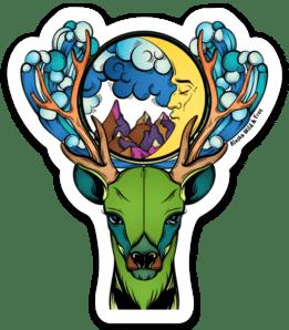 Dreaming Caribou Sticker #caribou #reindeer #reindeersticker #caribousticker #stickers