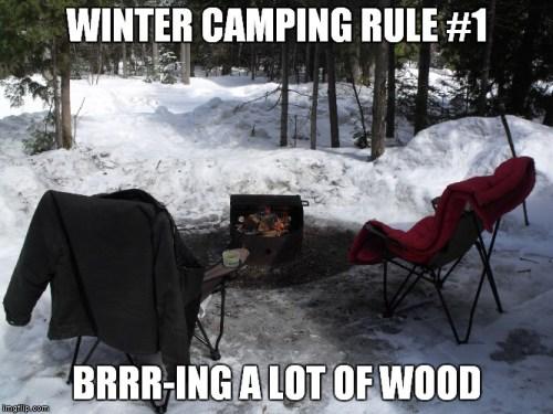 Winter Camping Rules #camping #campingmemes #wintercamping