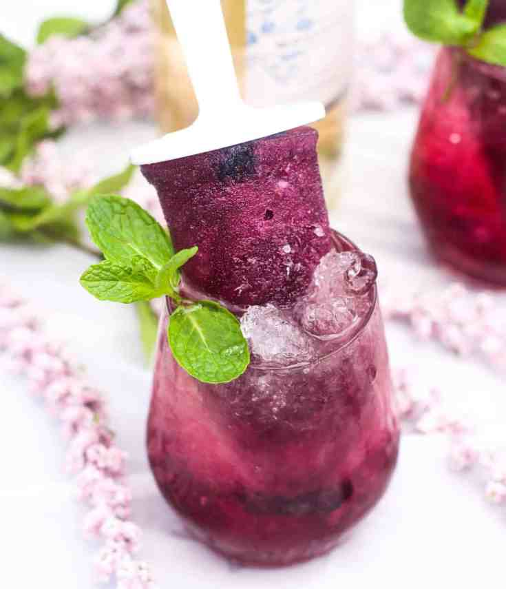 Blueberry & Moscato Boozy Popsicles