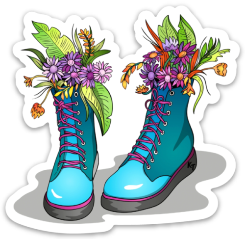 Blue Garden Boots Sticker