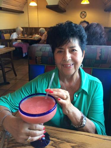Lola Trimmer and her margarita