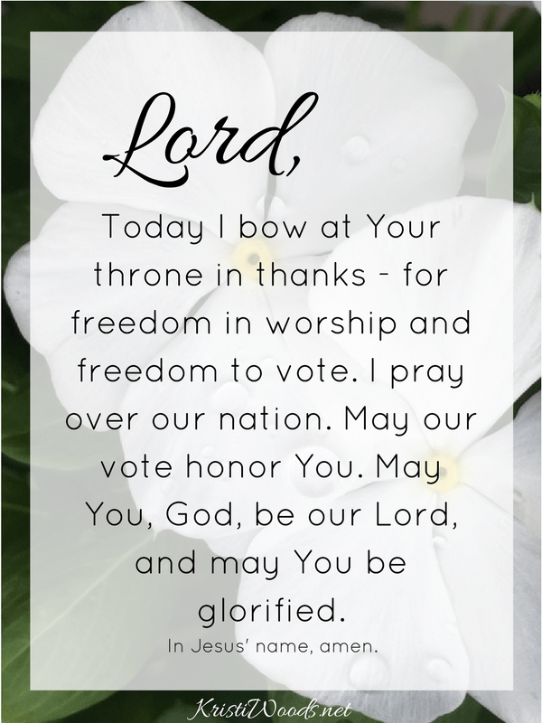 election-prayer
