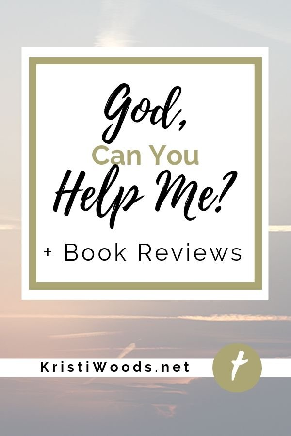 Sky background with God, Can You Help Me + Book Reviews on a white overlay