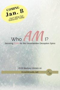 Who AM I? on KristiWoods.net
