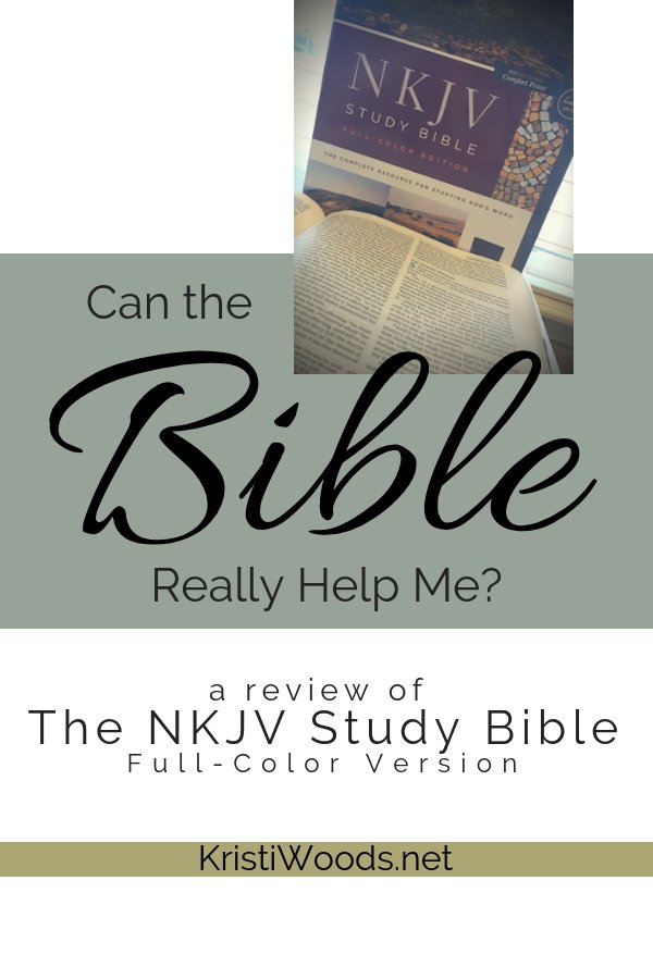 Bible with Can the Bible REally Help Me? written in black