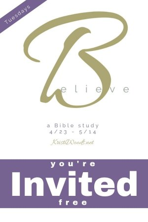 Believe Bible Study announcement