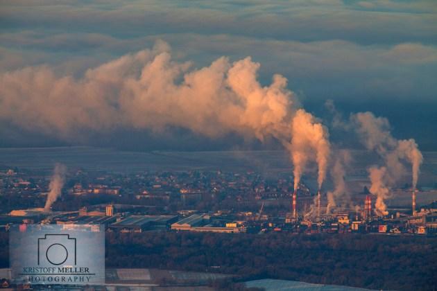 Blick auf die Industrie am Rhein