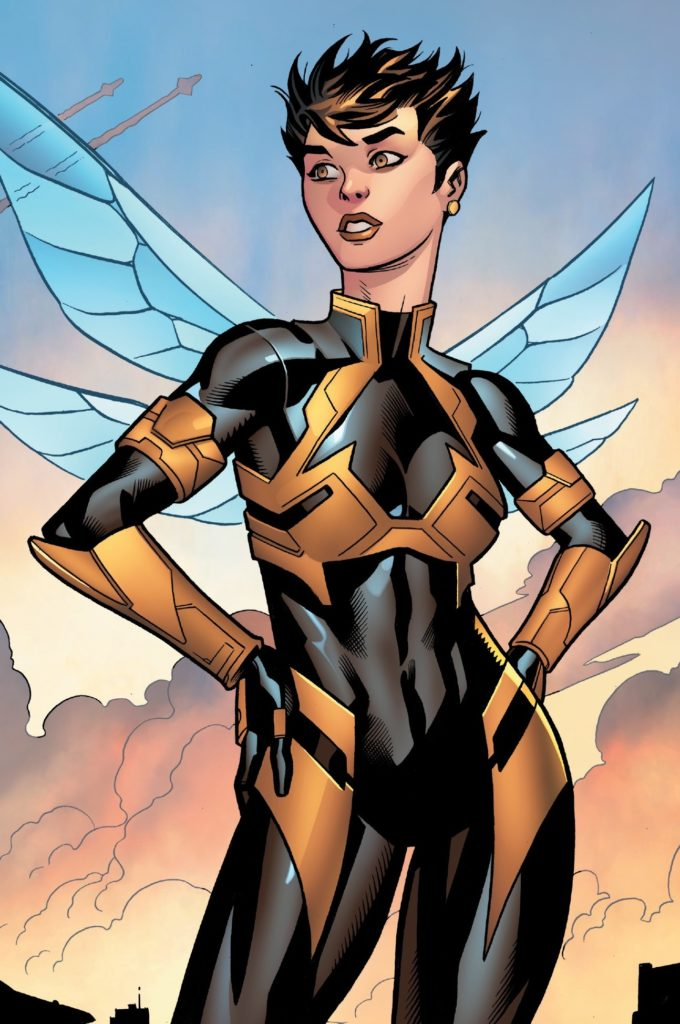 Lisbeth Salander's comparison with 'The Wasp', from Marvel's Avengers, is clear to see.