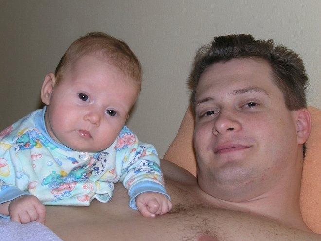 Krisitna Karpenko with dad