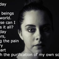 Every day I cry…