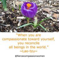Compassion toward self