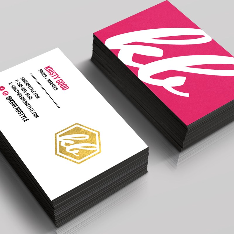 kbuenostyle business cards