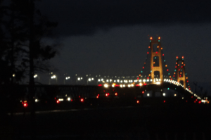 Kristy K. James - Mackinaw Bridge at night (12-6-13)