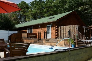 Log house-pool