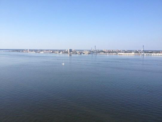 Charleston viewed from the top of Arthur Ravenel Bridge