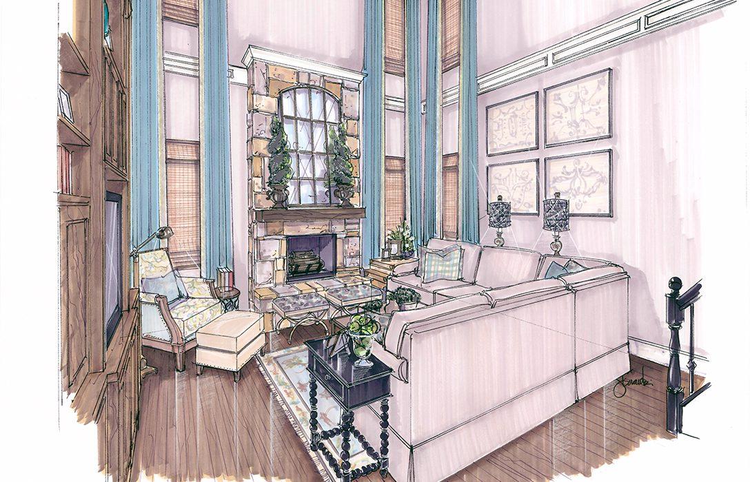 Interior Design Colored Renderings Flower Mound Kristy