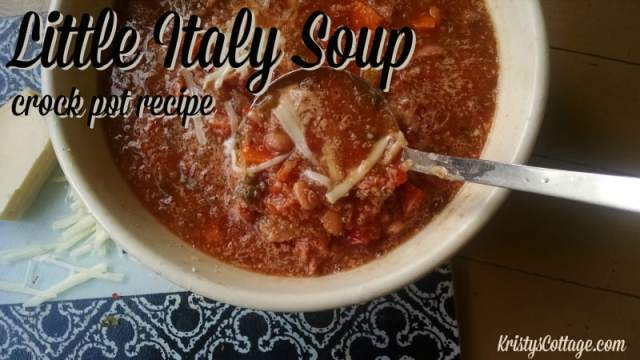 Little Italy Soup | Crock Pot Recipe @ Kristy's Cottage blog