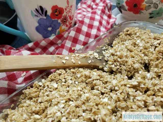 How to Make a Really Big Batch of Granola | Kristy's Cottage blog