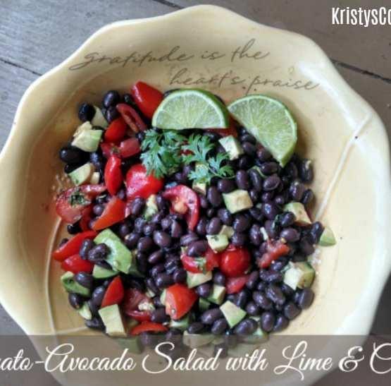 Tomato Avocado Salad with Lime & Cilantro | Kristy's Cottage blog