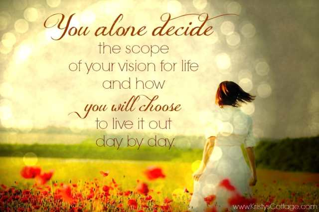 Becoming a Woman of Eternal Vision | Kristy's Cottage