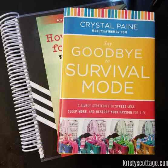 3 Reasons You Might Need to Read Say Goodbye to Survival Mode, by Crystal Paine | Kristy's Cottage blog