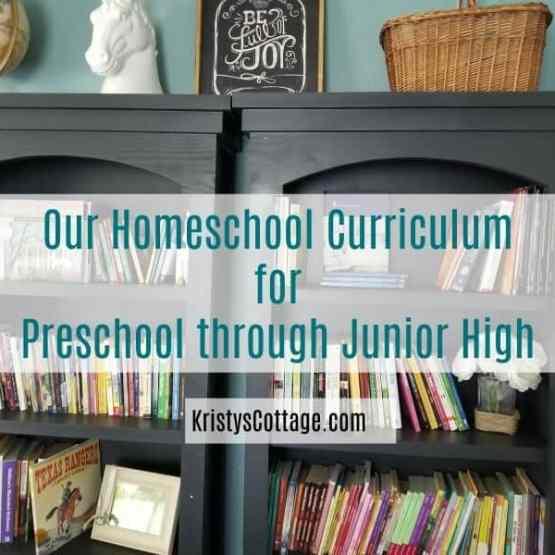 Our Homeschool Curriculum, Preschool through Junior High | Kristy's Cottage blog