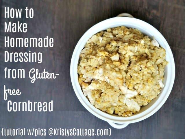 Gluten-free Cornbread Dressing | Kristy's Cottage blog