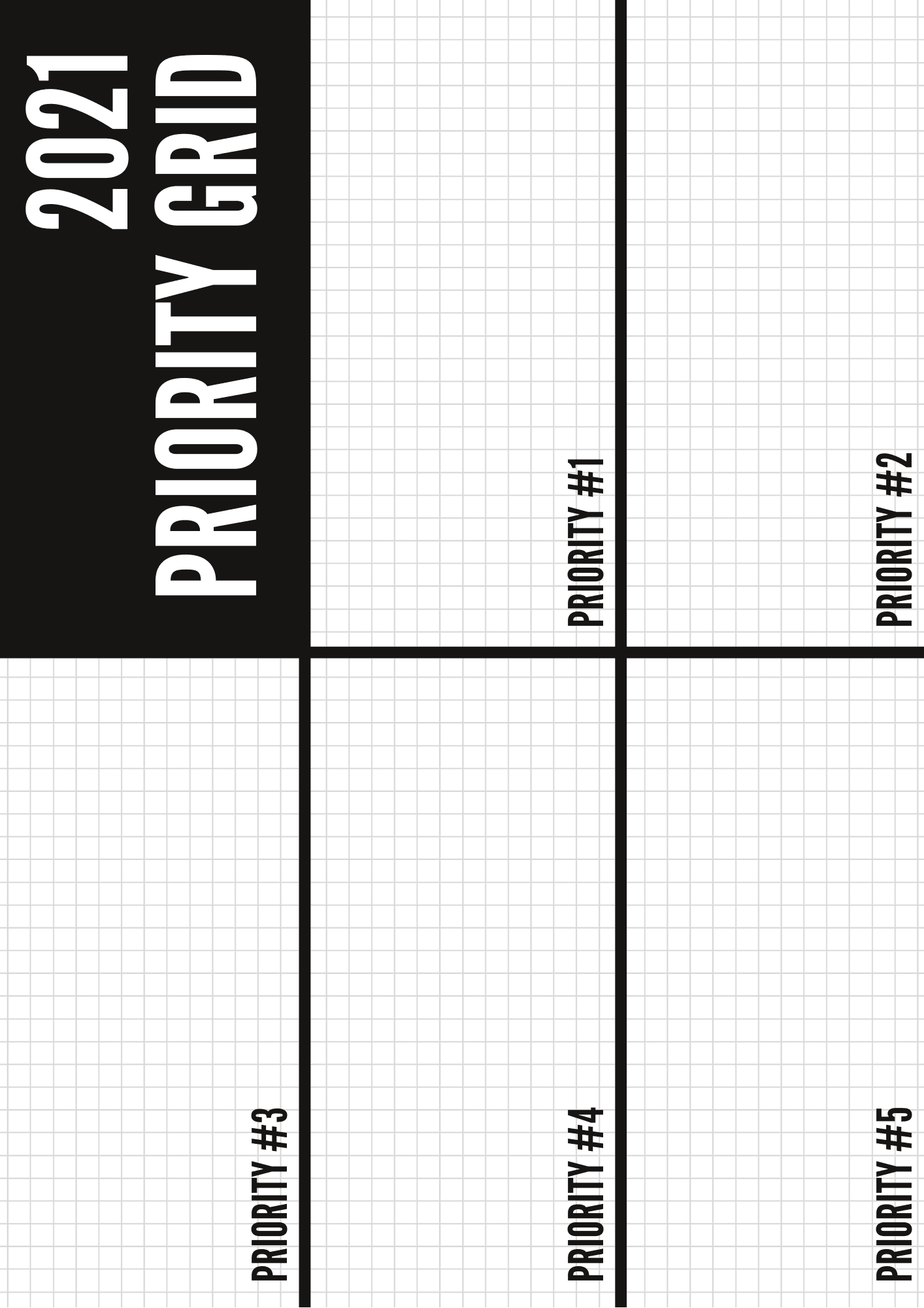 Free Priority Grid Template To Print Use